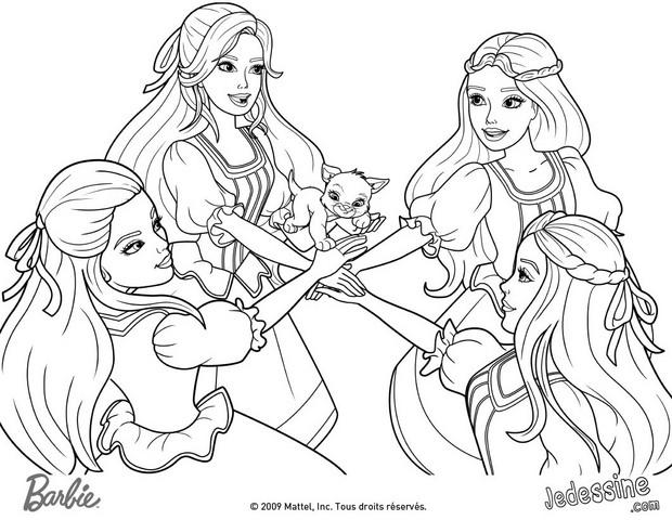 Coloriage barbie princesse popstar - Barbie princesse coloriage ...
