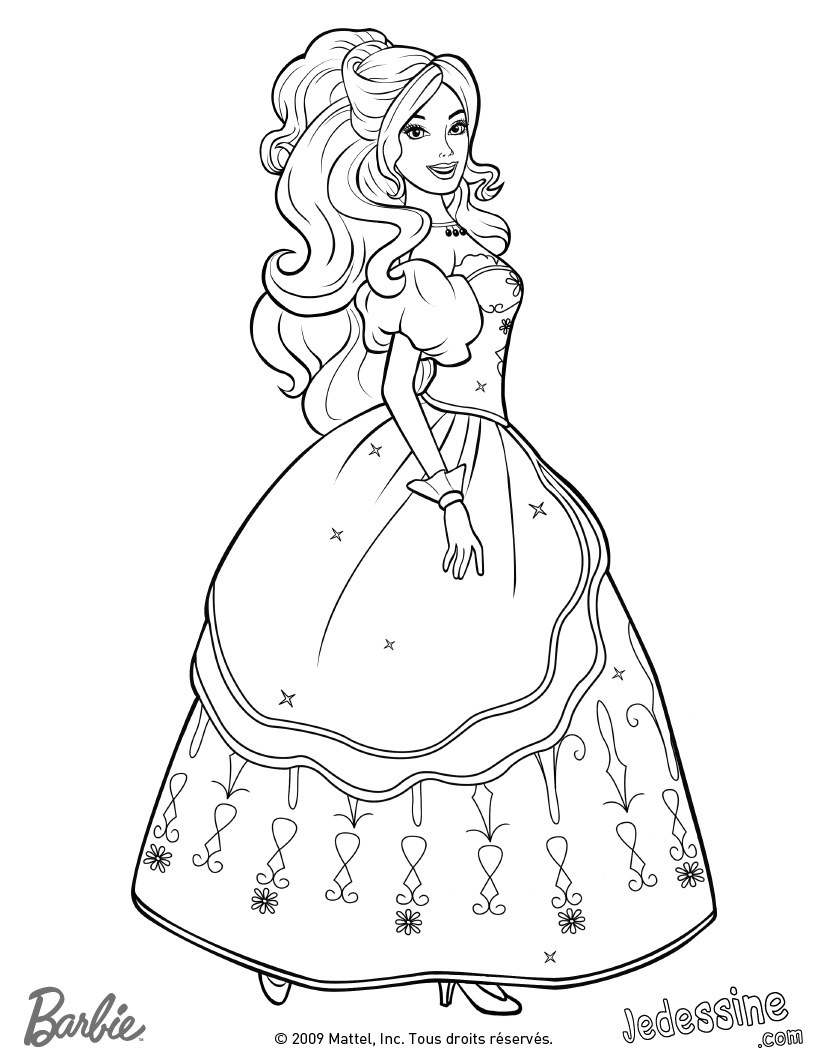coloriage barbie halloween
