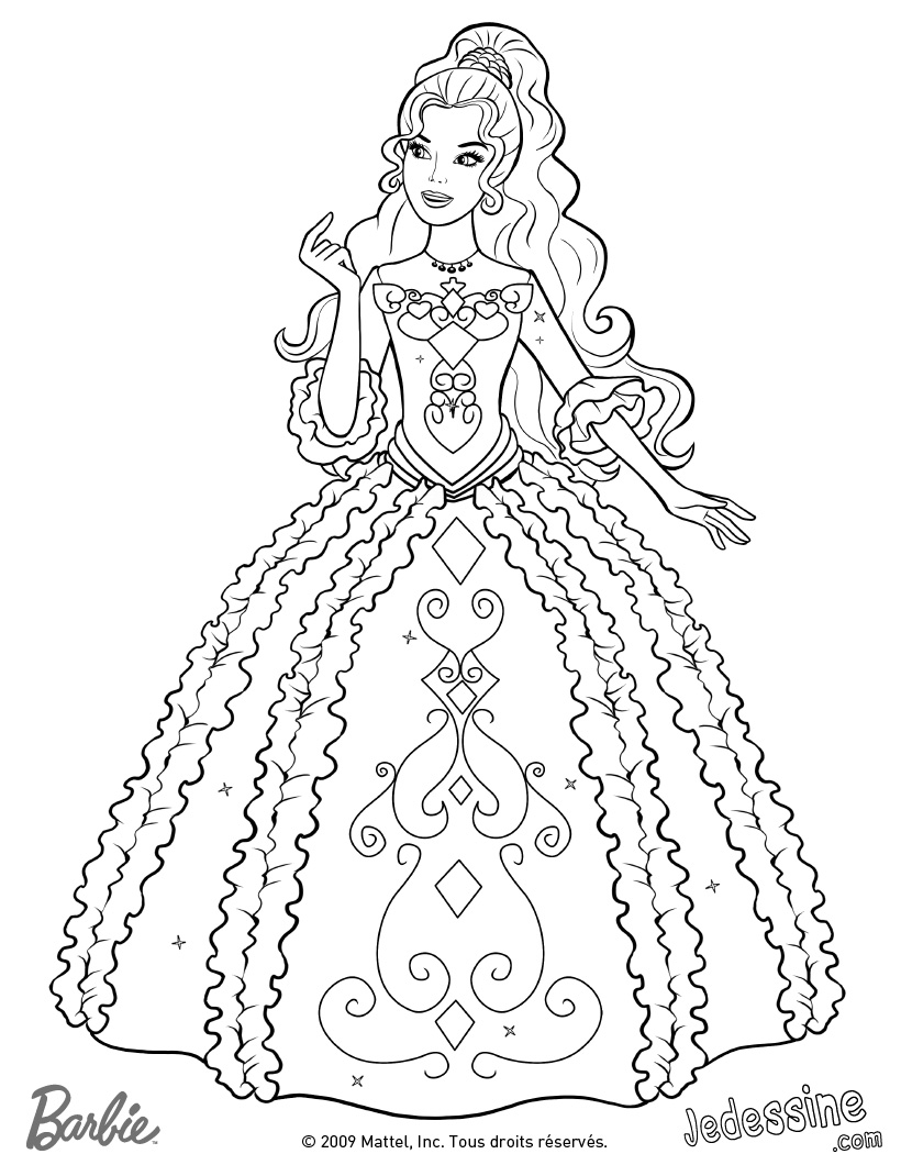 coloriage barbie gratuit