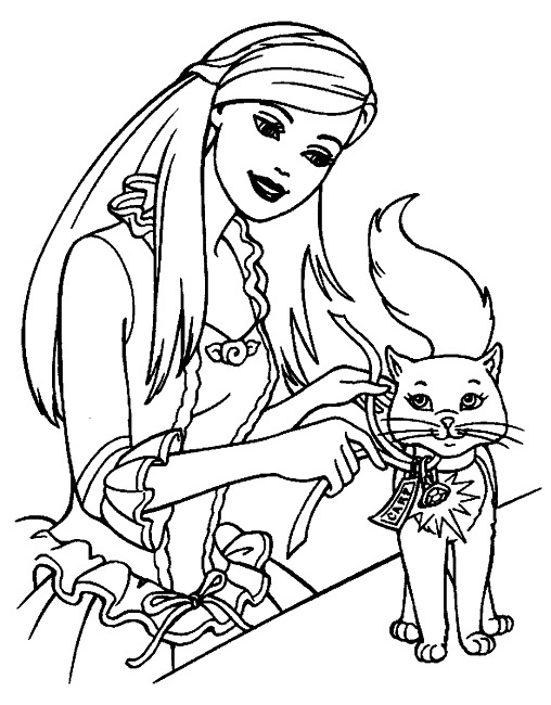 coloriage barbie princesse