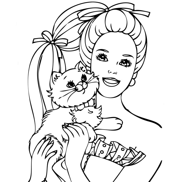 coloriage barbie fashion
