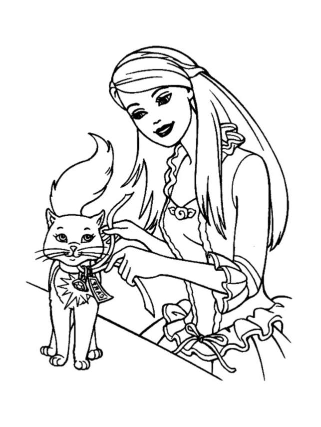 coloriage barbie au club hippique