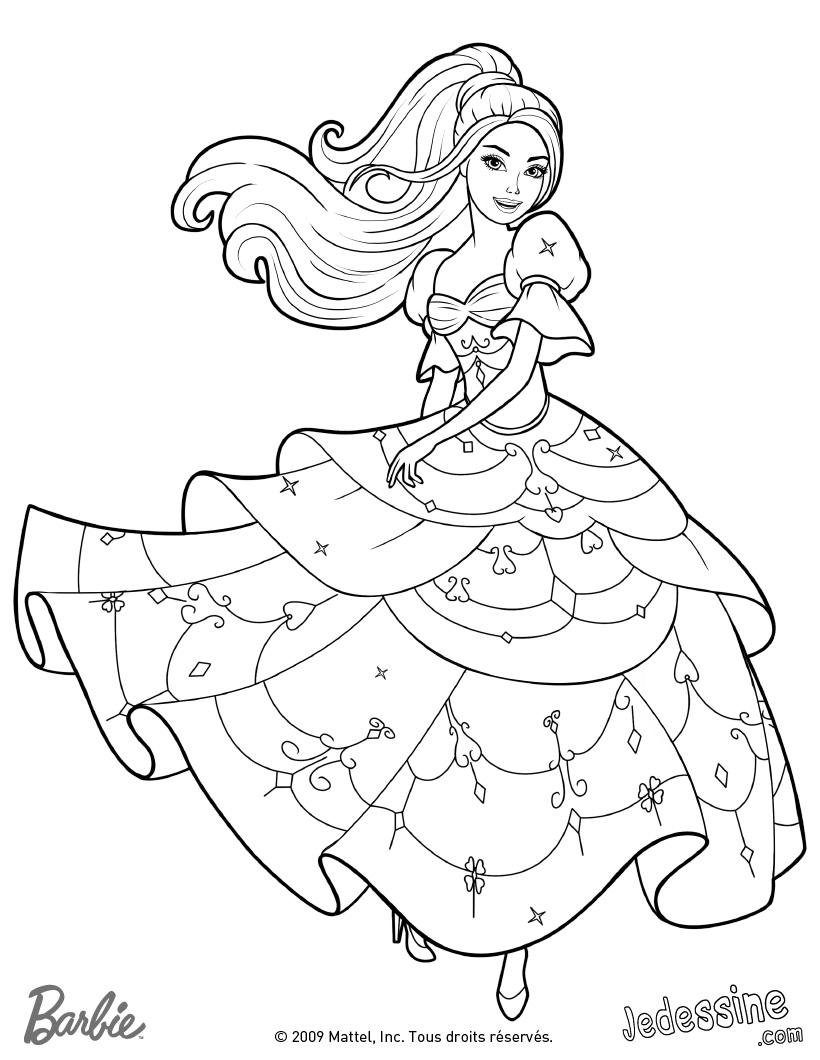 coloriage barbie qui chante