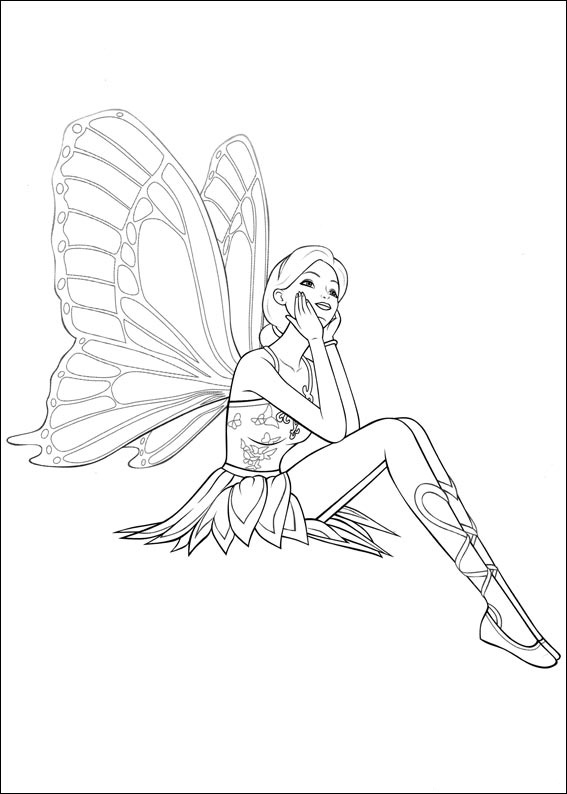 coloriage barbie winx