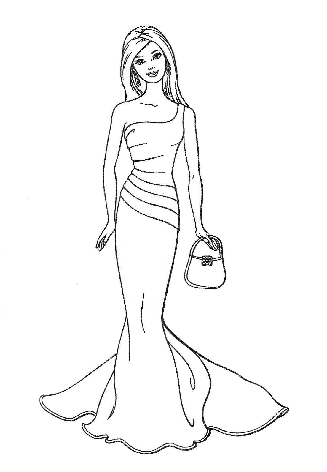Coloriage barbie princesse noel - Barbie princesse coloriage ...