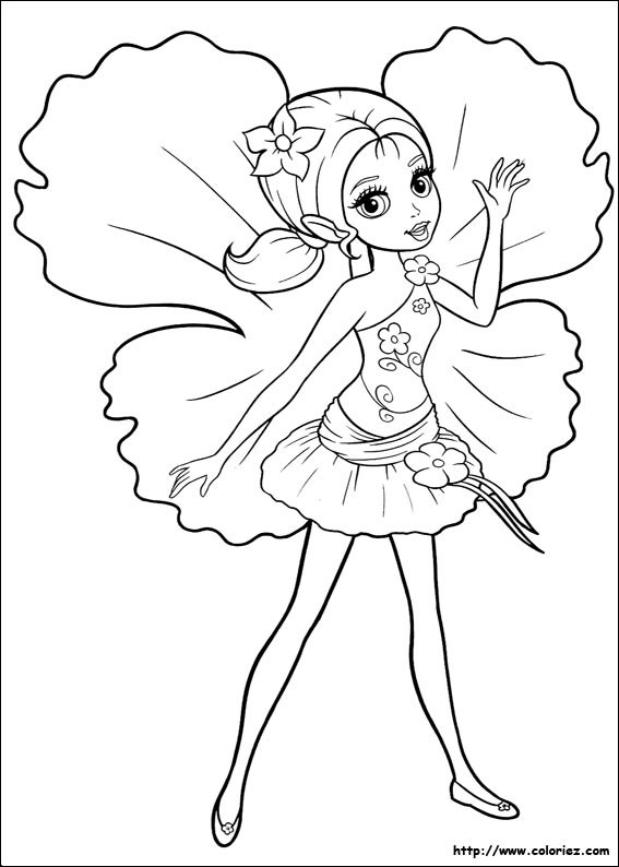 coloriage barbie mode