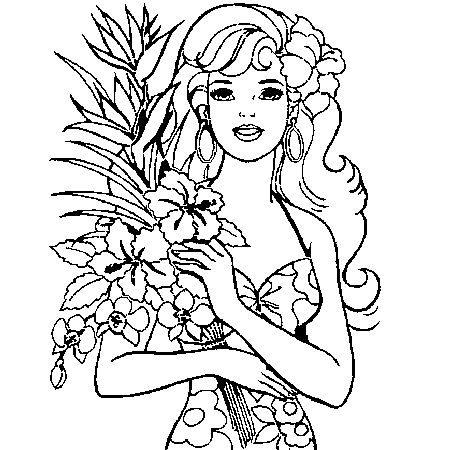 coloriage barbie super princesse