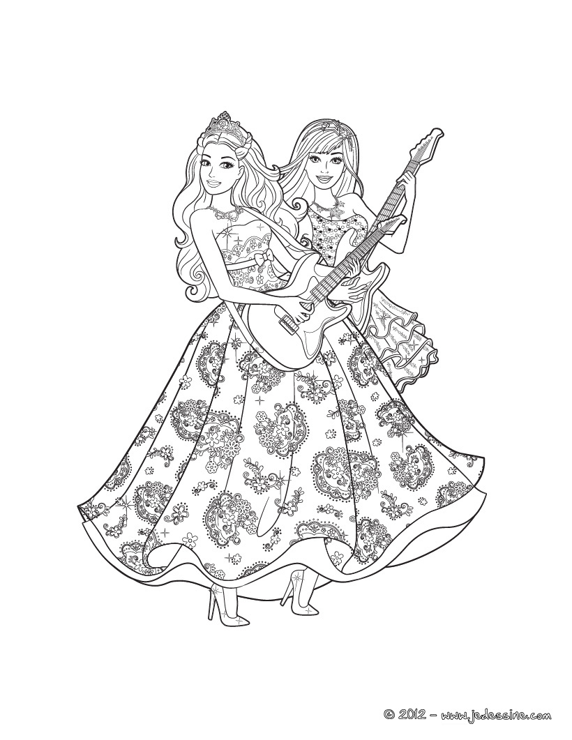 Coloriage de barbie et ken en ligne - Barbie princesse coloriage ...