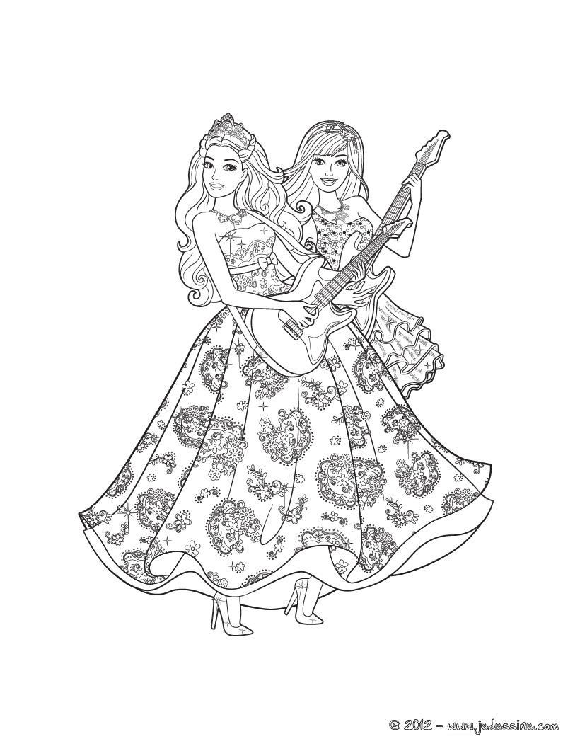 Coloriage de barbie et ken en ligne - Coloriage barbie danseuse ...