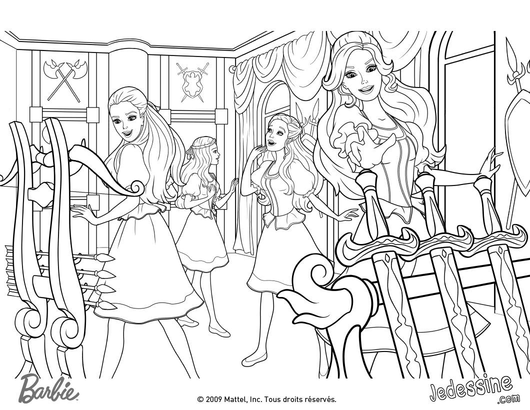 coloriage de barbie joyeux noel a imprimer