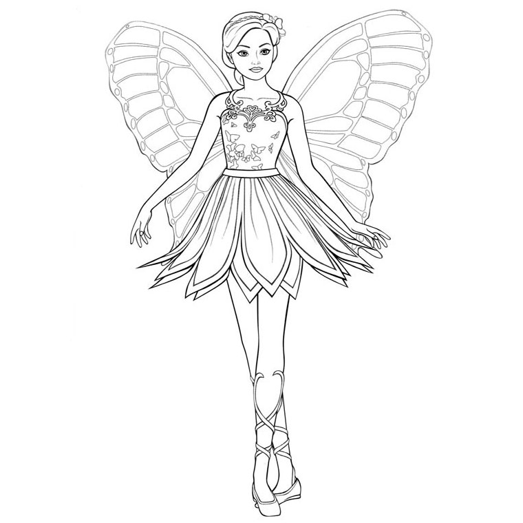 coloriage barbie super heroine