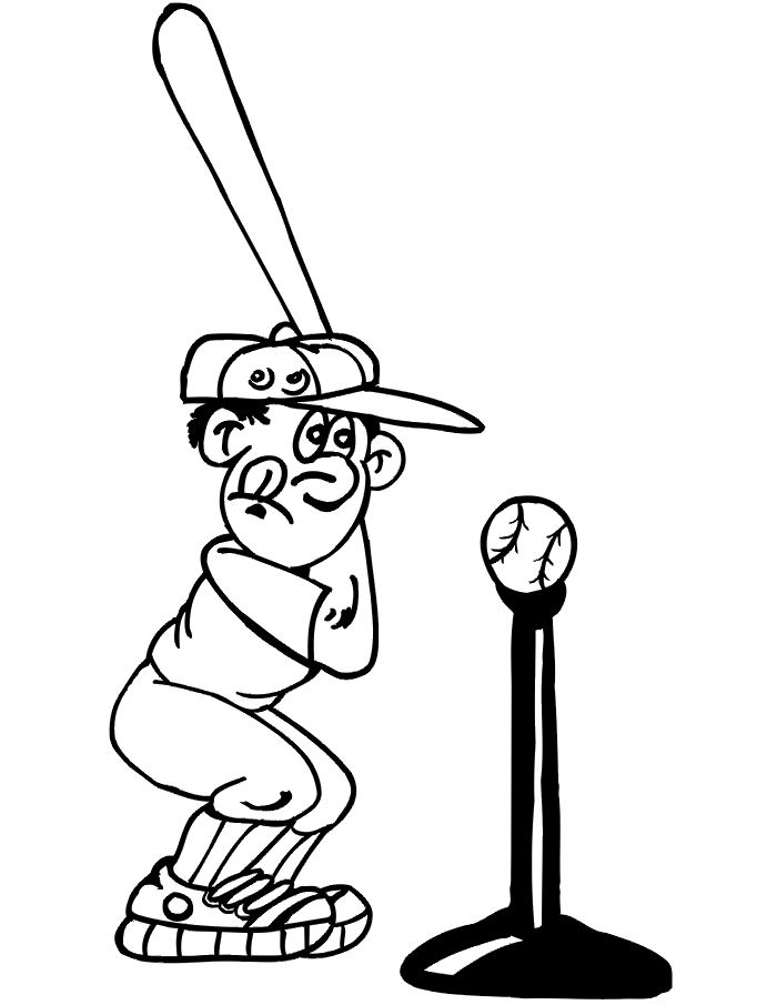 coloriage à dessiner baseball imprimer