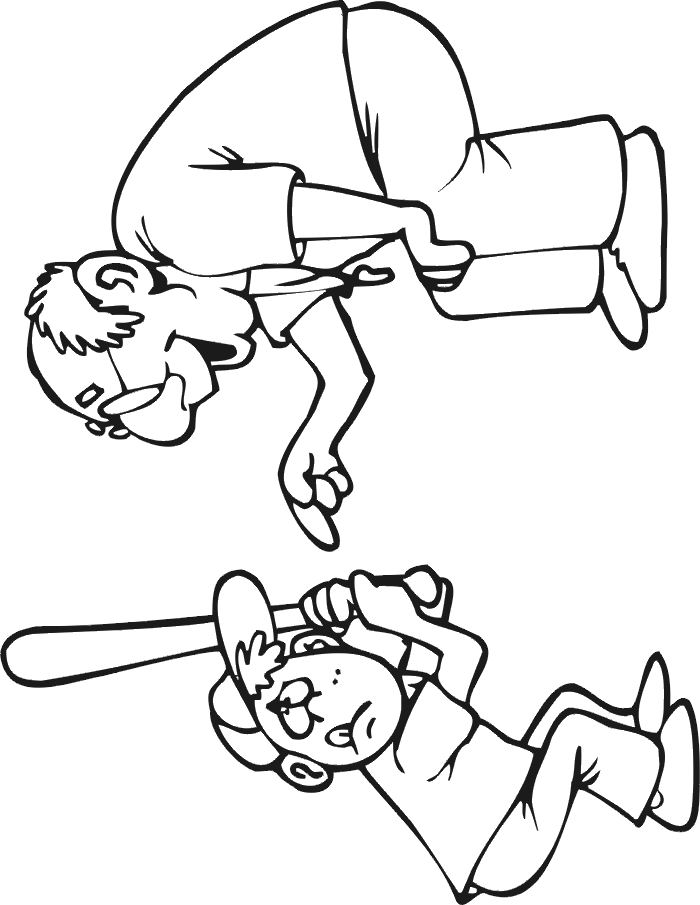 coloriage de baseball
