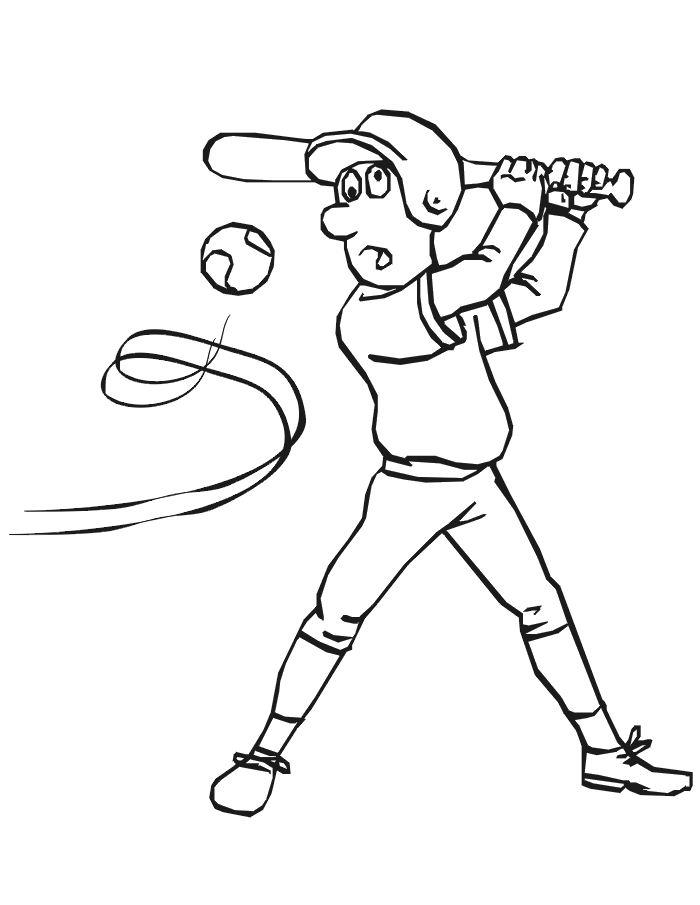 coloriage à dessiner de baseball a imprimer