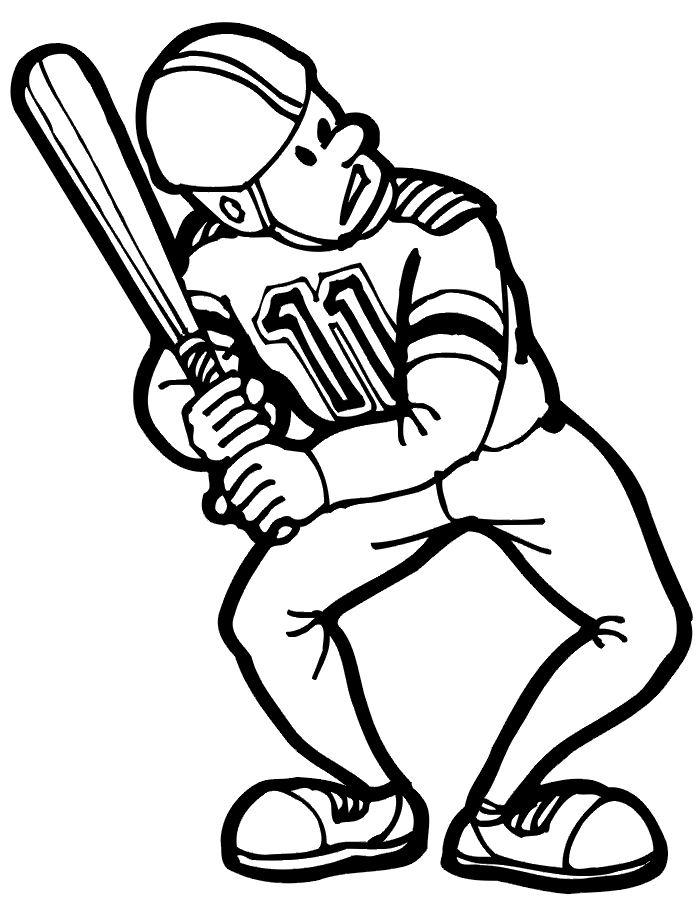 coloriage baseball imprimer