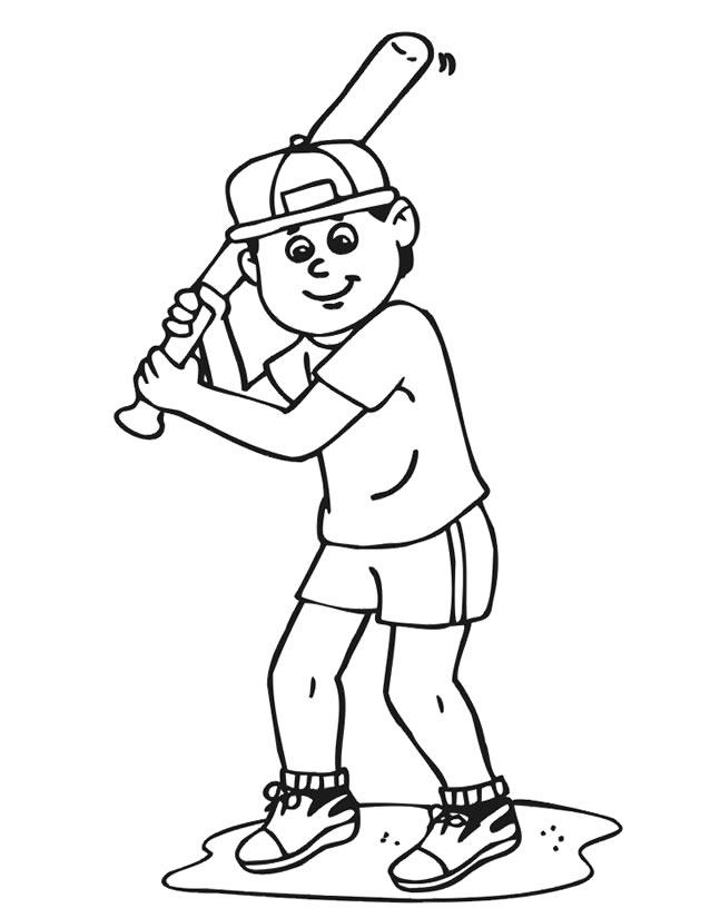 dessin à colorier baseball