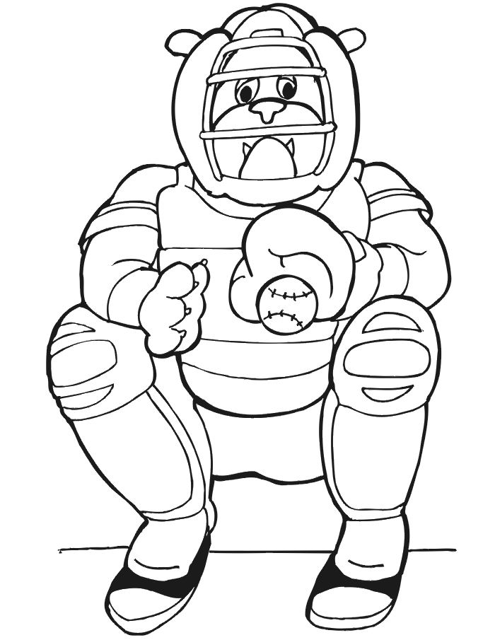 dessin à colorier joueur de baseball