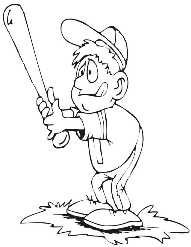 dessin joueur de baseball