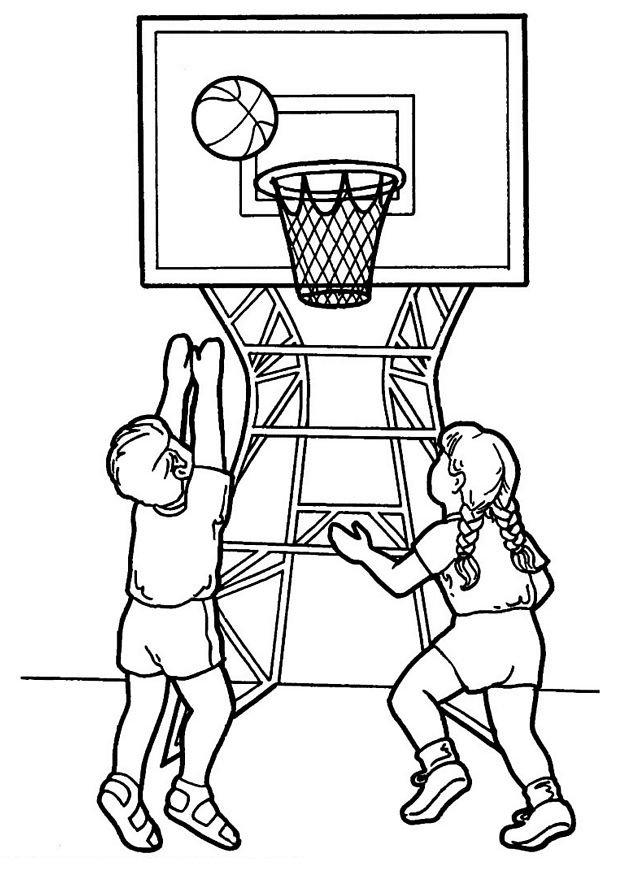 dessin à colorier de basket à imprimer