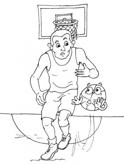 dessin à colorier joueur basket