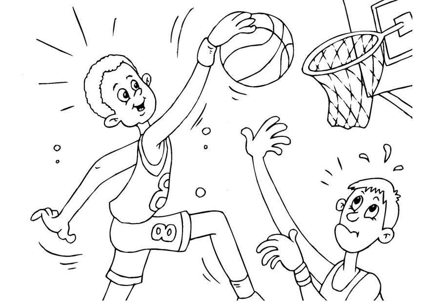 dessin basket nba
