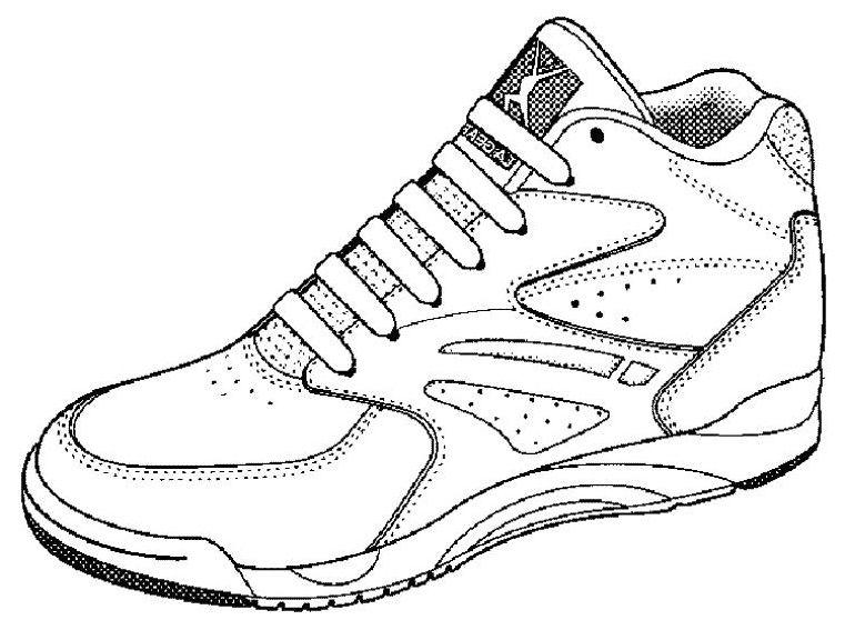 Dessin basket chaussure