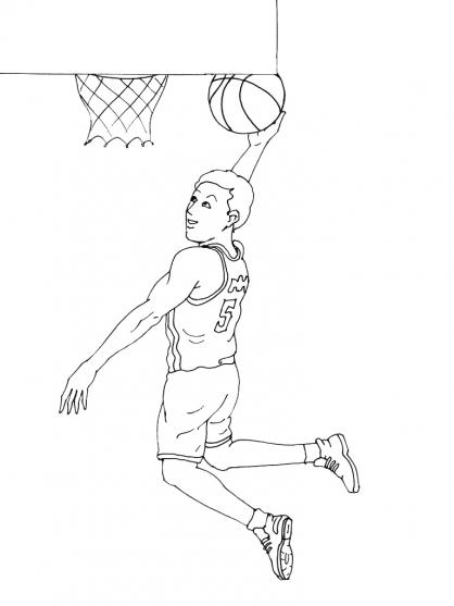 dessin à colorier basket à imprimer