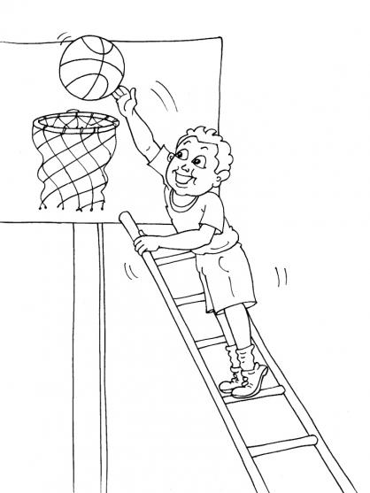 coloriage basket