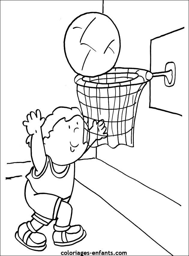 dessin à colorier magique basket