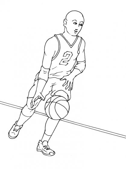 dessin à colorier basket imprimer
