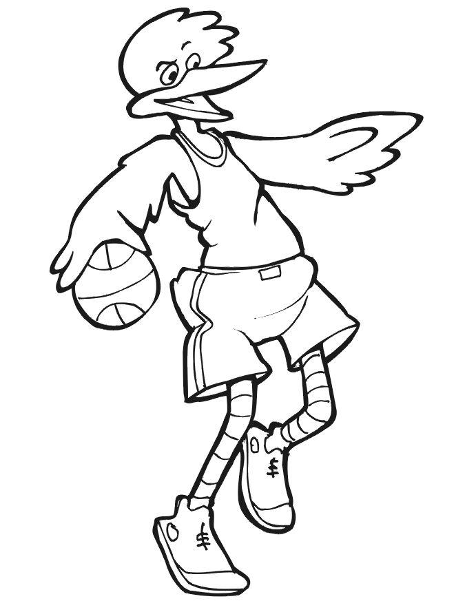 coloriage à dessiner mario basketball