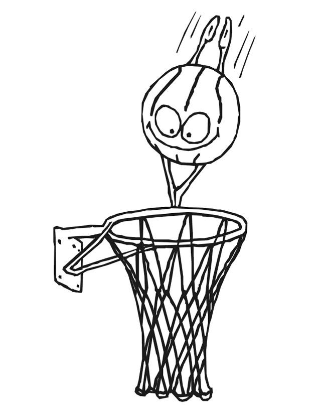 coloriage à dessiner de basketball gratuit