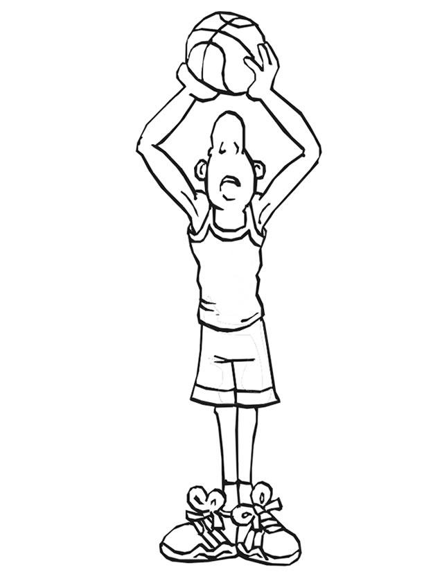 coloriage à dessiner de basketball a imprimer