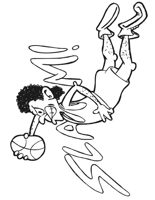 dessin à colorier terrain basket
