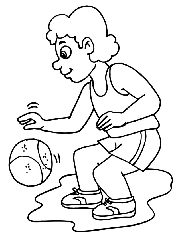 dessin � colorier basketball tony parker
