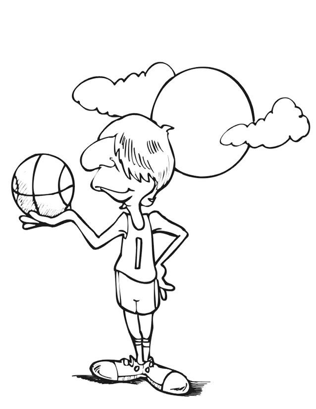dessin à colorier de basketball a imprimer