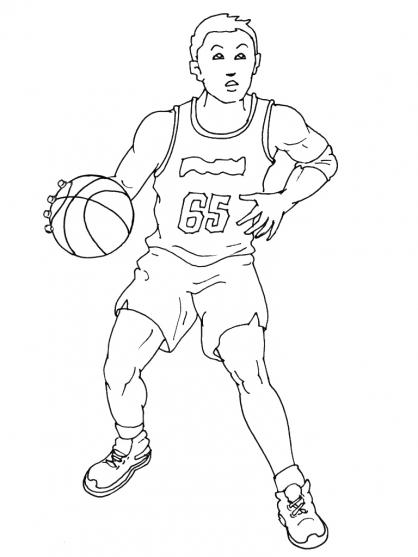 coloriage en ligne basketball