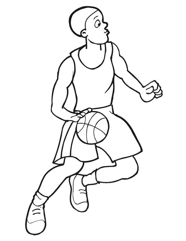 dessin à colorier basketball nba