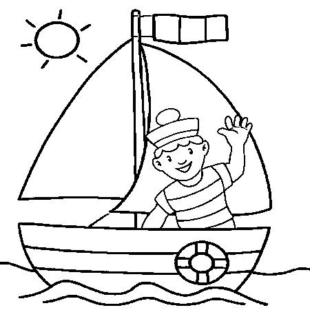 96 dessins de coloriage bateau a voile imprimer imprimer - Dessin bateau enfant ...
