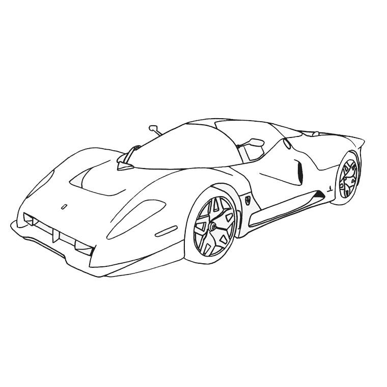 99 dessins de coloriage bateau de course imprimer - Coloriage voiture de courses ...
