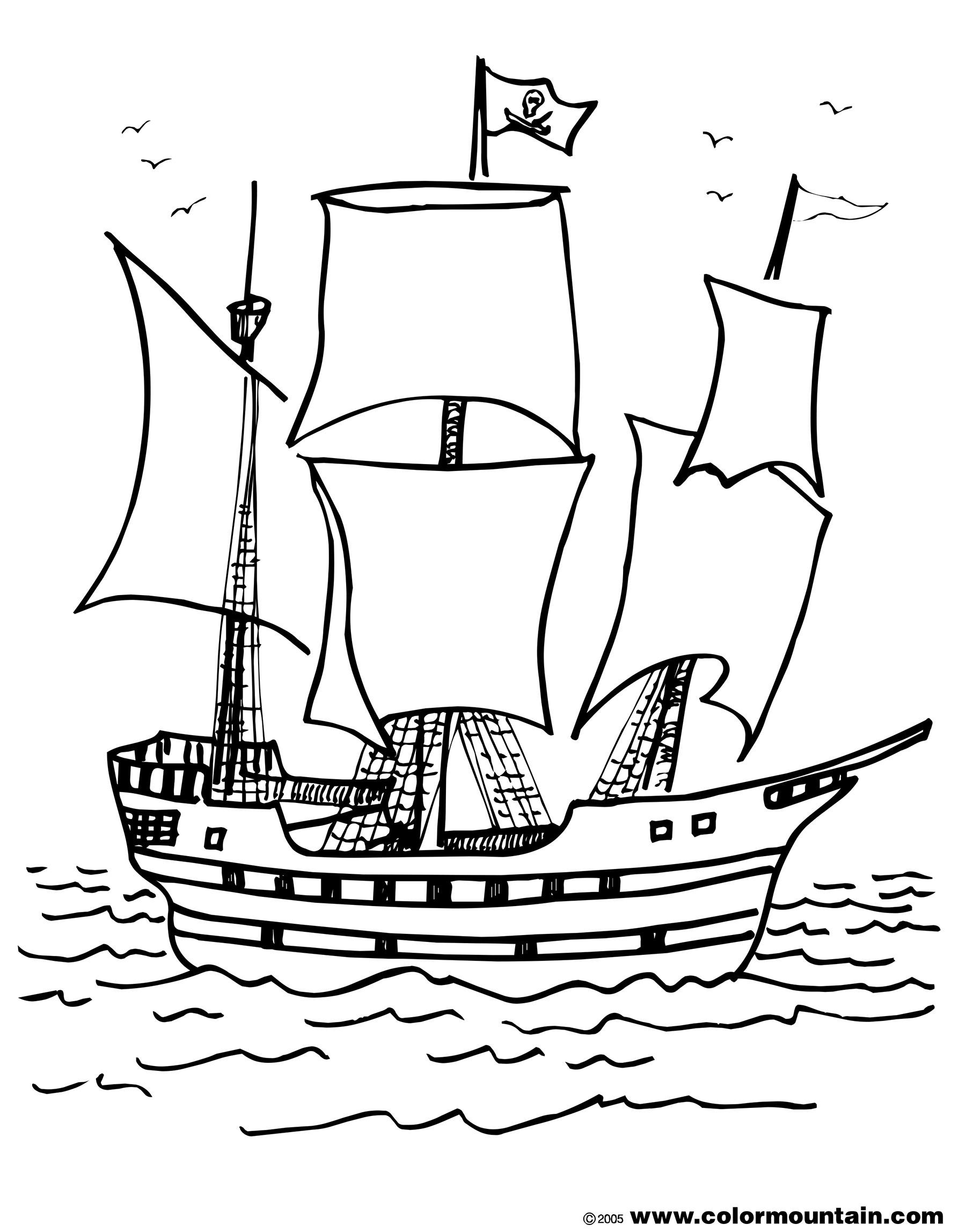 17 Dessins De Coloriage Bateau Pirate à Imprimer