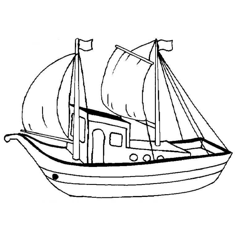 96 dessins de coloriage bateau pirate imprimer - Coloriage bateau ...