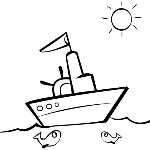 coloriage à dessiner bateau à voile