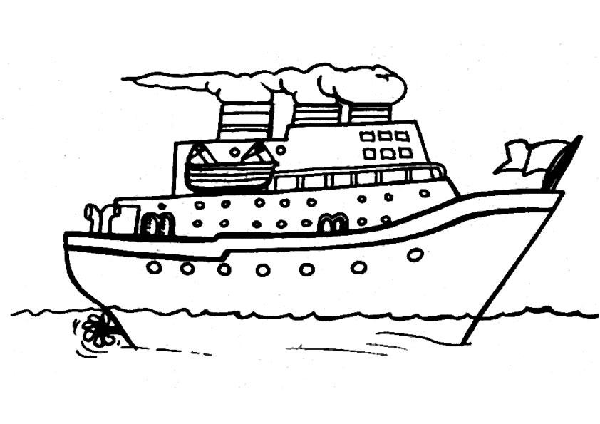dessin à colorier le bateau de monsieur zouglouglou