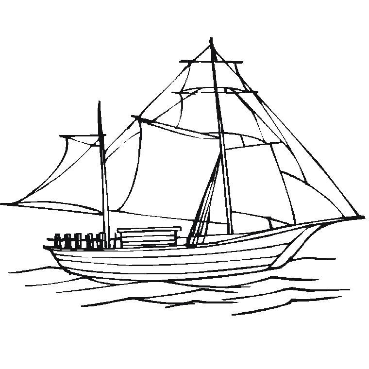 coloriage bateau jack et les pirates