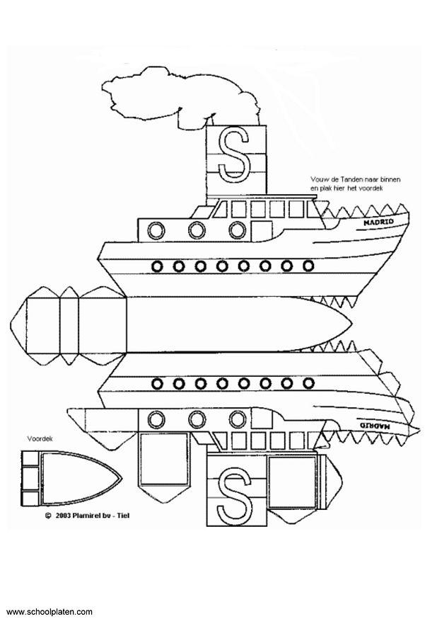coloriage à dessiner bateau anglais