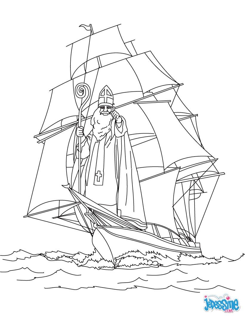 coloriage à dessiner bateau a moteur imprimer