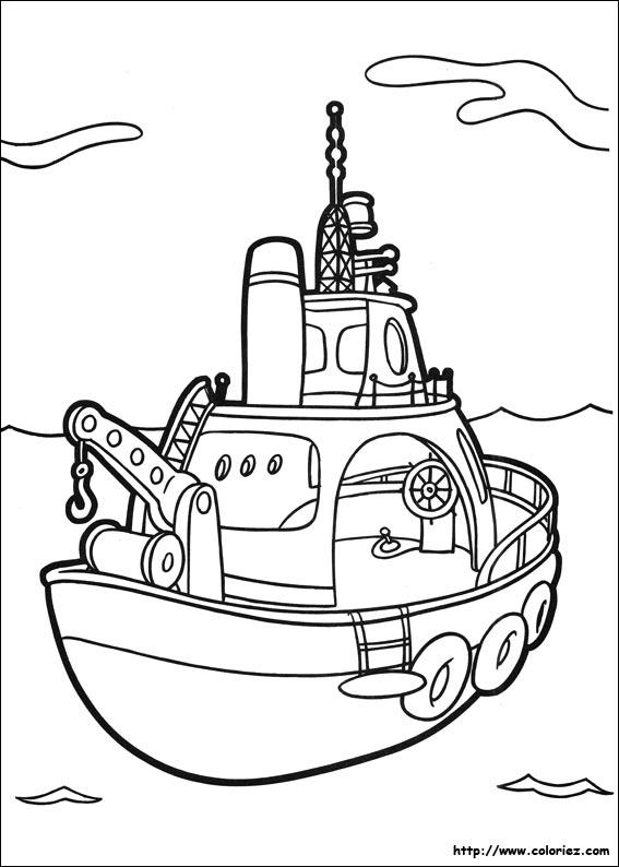 dessin bateau pompier