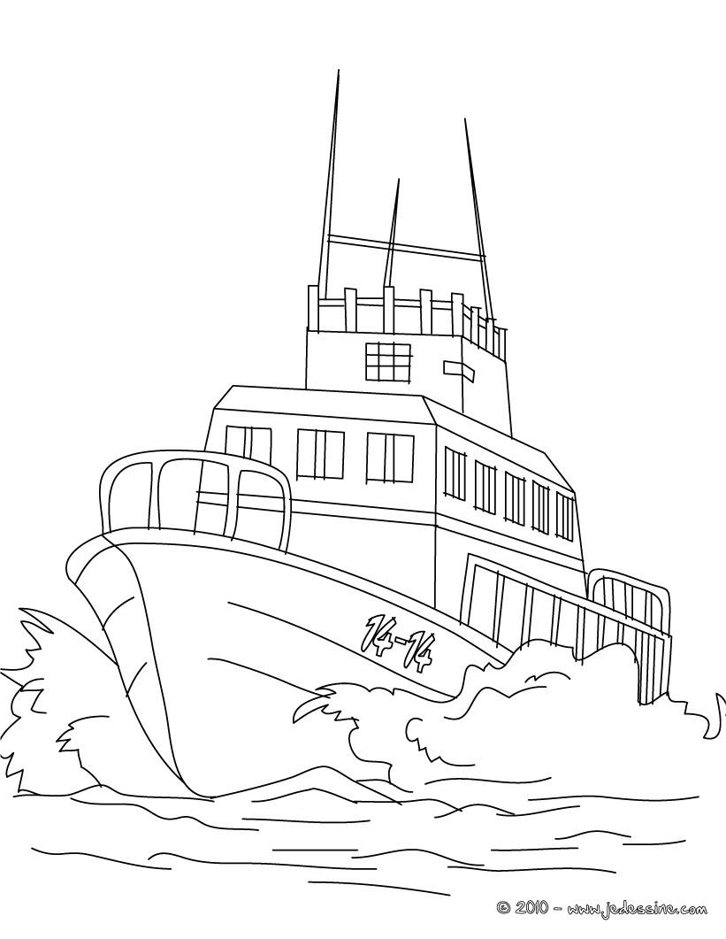 coloriage bateau 3 mats