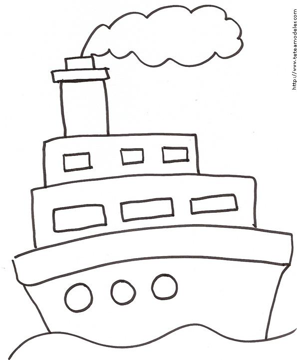 dessin bateau titanic
